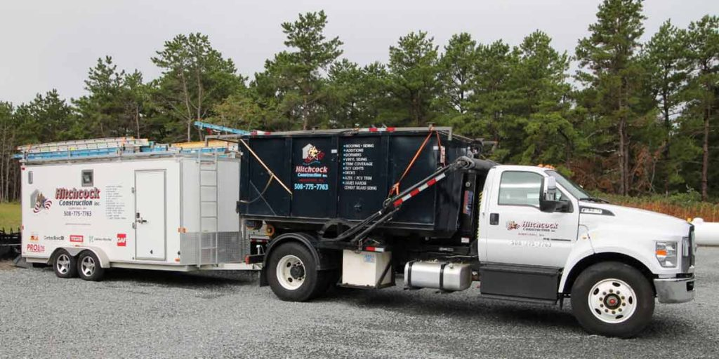 Hitchcock Roofing & Siding truck